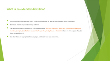 Extended definition essays