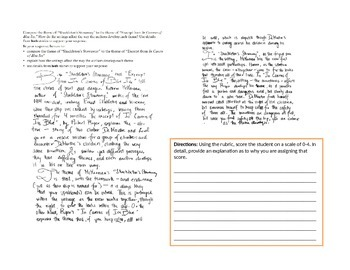 Writing an Extended Response Based on Two Different Texts - ELA Test and Skills