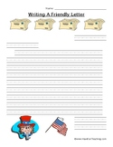 Writing an Independence Day Letter Worksheet