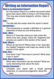 Writing an Information Report Cheat Sheet