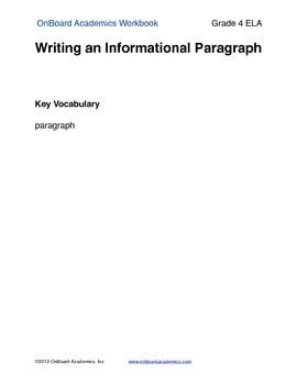 Writing an Informational Paragraphg