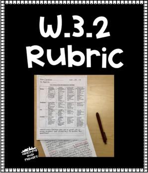"""Wit and Wisdom W.3.2 """"I"""" Statements Grading Rubric"""