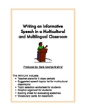 Writing an Informative Speech in ESL, EFL, and Diverse Classrooms
