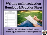 Writing an Introduction Handout & Practice