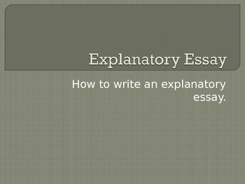Writing an Introduction:  Nonfiction, Explanatory/ Exposit