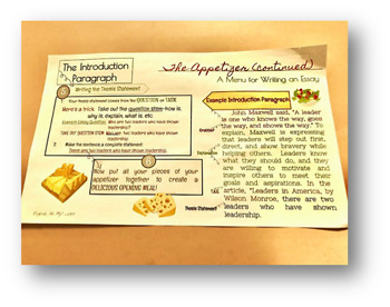 Introduction Writing-Placemats and Reference Sheets