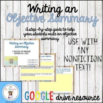 Writing an Objective Summary Step by Step Guide-Digital