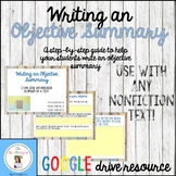 Writing an Objective Summary Step by Step Guide-Distance Learning
