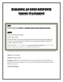 Writing an Open Response Thesis Statement
