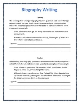 Writing an Opening (Beginning) and Closing (Ending) for a