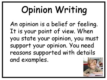 Writing an Opinion Essay Power Point