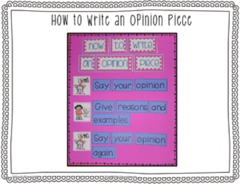 Writer's Workshop: Writing an Opinion by Kim Adsit aligned with Common Core