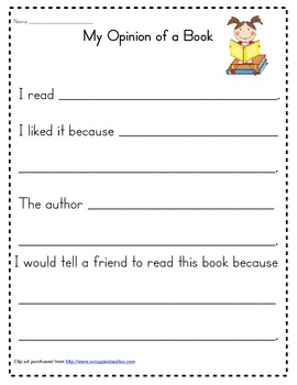 Writing an Opinion of  Book