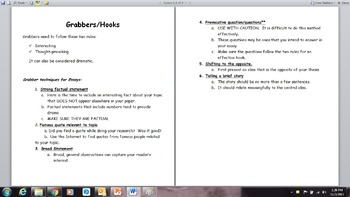 Writing an effective Grabber or Hook