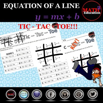 Writing linear equations in slope-intercept form from other forms Tic Tac Toe