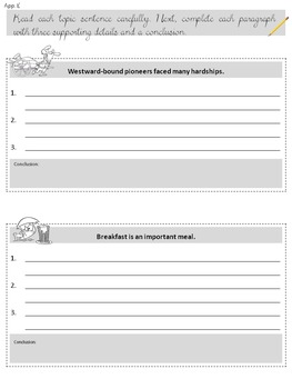 Informational paragraph writing