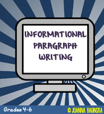 Informational paragraph writing PDF & Digital for Distance