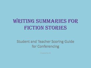 Summaries-writing and analyzing
