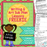 Writing and Art Sub Plan Freebie