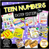 Writing and Building TEEN Numbers Bundle EASTER