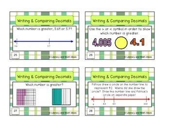 Writing and Comparing Decimals