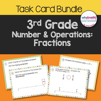 Writing and Comparing Fractions Task Card Bundle