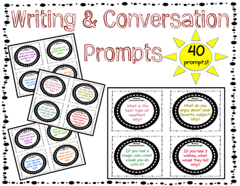 Writing and Conversation Prompts FREEBIE!