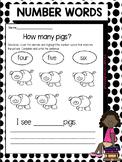 Number Words 1-10 Worksheets