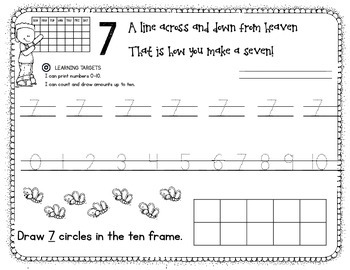 Writing and Counting Numbers 0-10