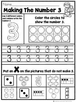 Writing and Counting Numbers 0 - 5  (Math Practice Sheets)