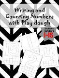 Writing and Counting Numbers mat/ Play dough mats