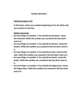 Writing and Counting Objects 0-20