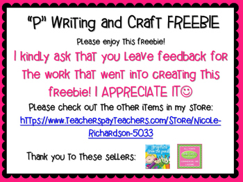Writing and Craft FREEBIE