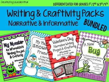 Common Core Writing and Craftivity Bundle ~ Narrative & Informative