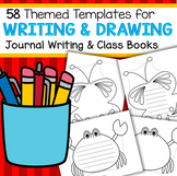 58 Large Templates for Writing, Drawing, Journals, Class Books, and Crafts - b/w