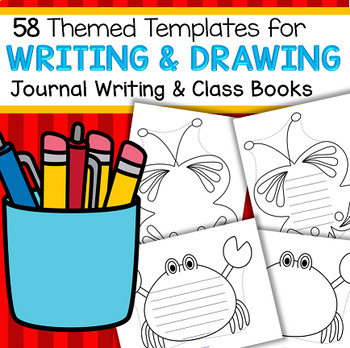 Large Templates for Writing, Drawing, Shapebooks and Crafts - b/w