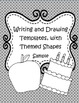 Writing and Drawing Templates, with Themed Shapes (Sample) FREE