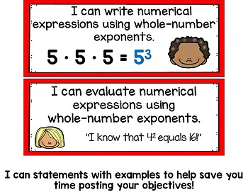Writing and Evaluating Numerical Expressions Math Tasks and Exit Tickets