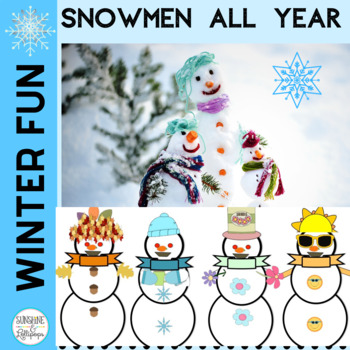 Writing Frames and Fun Craftivity for Snowmen all Year for K-1
