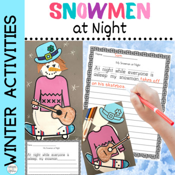 Snowmen at Night Craft and Writing for K and 1