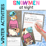 Writing Prompts and Fun Craftivity for Snowmen at Night fo