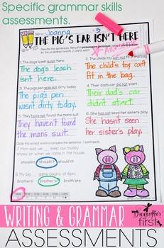 Writing and Grammar Assessments 2nd Grade