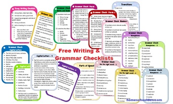 Writing and Grammar Checklists (Free)
