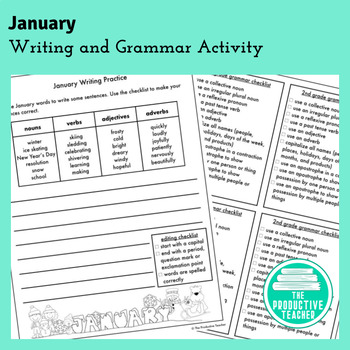 Writing and Grammar Worksheet: January