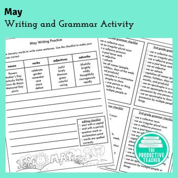 Writing and Grammar Worksheet: May