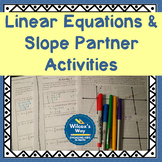 Writing and Graphing Equations in Slope Intercept Form Partner Activities