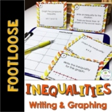 Inequalities Task Cards (Writing and Graphing) - Footloose
