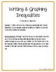Writing and Graphing Inequalities Foldable