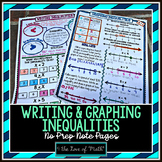 Writing and Graphing Inequalities No Prep Note Pages