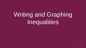 Writing and Graphing Inequalities PowerPoint